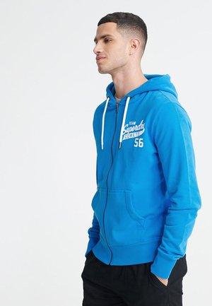 SCRIPT CLASSIC - Hoodie met rits - electric blue