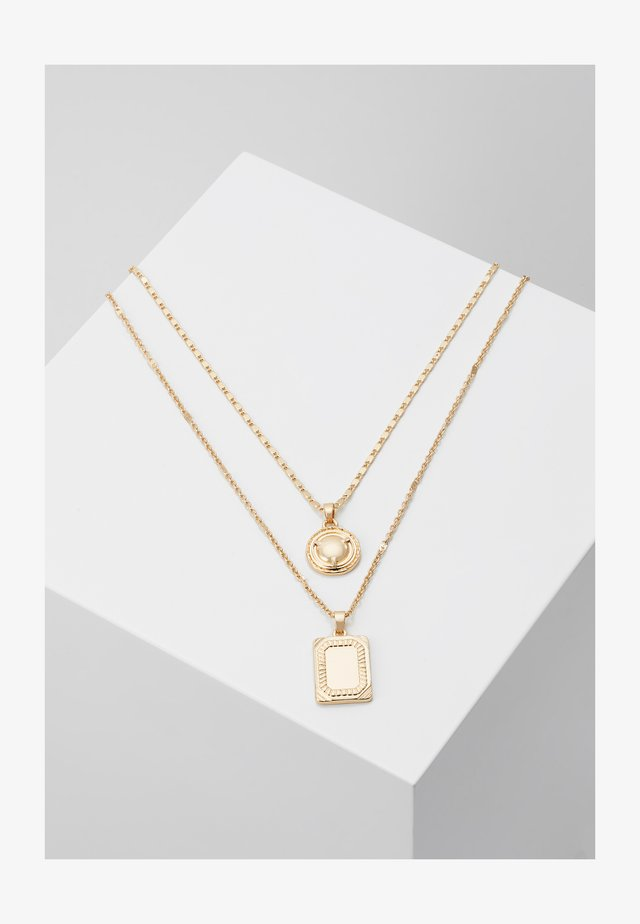 ONLSQUARE NECKLACE 2 PACK - Collier - gold-coloured