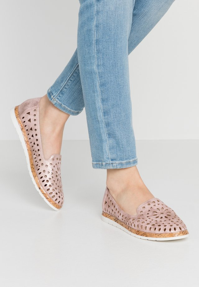 BELLA - Scarpe senza lacci - blush metallic