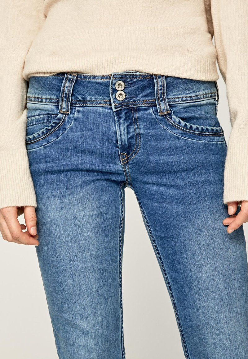 Pepe Jeans Gen Straight Leg Jeans Denim Light Blue Denim Zalando Ie
