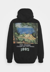 Vintage Supply - CEZANNE ARTS PRINT HOODIE - Felpa - black - 1