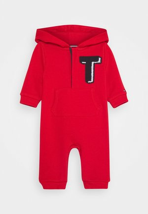 BABY HOODIE COVERALL - Sleep suit - red