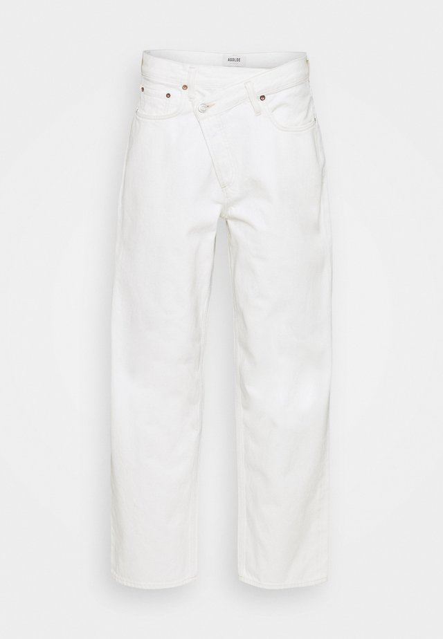 CRISS CROSS - Jeans baggy - paste white
