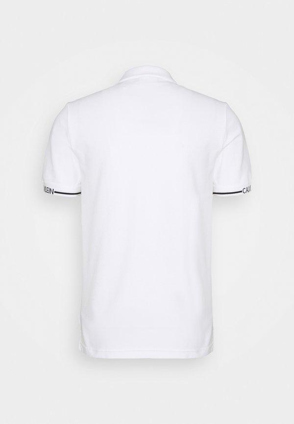 Calvin Klein LOGO CUFF SLIM FIT - Koszulka polo - white/biały Odzież Męska IXJO