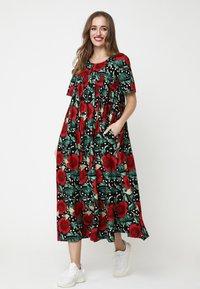 Madam-T - Maxi dress - schwarz rot - 1