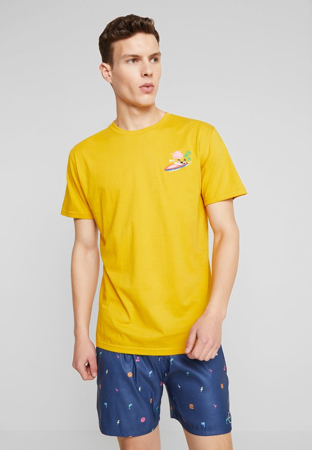 T-shirt z nadrukiem - yellow