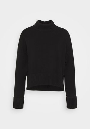 TURTLENECK JUMPER - Jumper - black dark