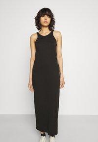 G-Star - MAXI TANK TOP DRESS - Jerseyjurk - dark black - 0