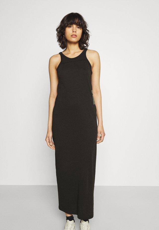 MAXI TANK TOP DRESS - Sukienka z dżerseju - dark black
