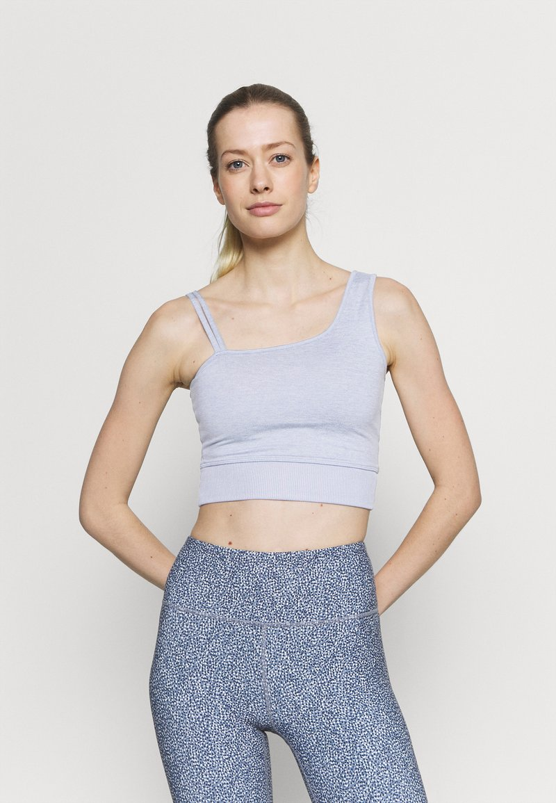 Cotton On Body - RUN WITH IT ONE SHOULDER VESTLETTE - Light support sports bra - baltic blue marle