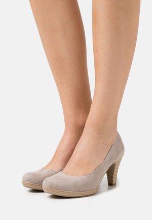 COURT SHOE - Zapatos de plataforma - taupe