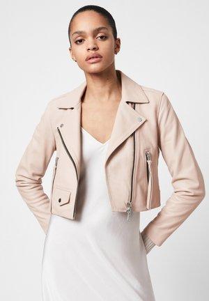 ELORA BIKER - Leather jacket - pale pink