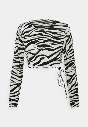 WRAP TIE - Long sleeved top - black