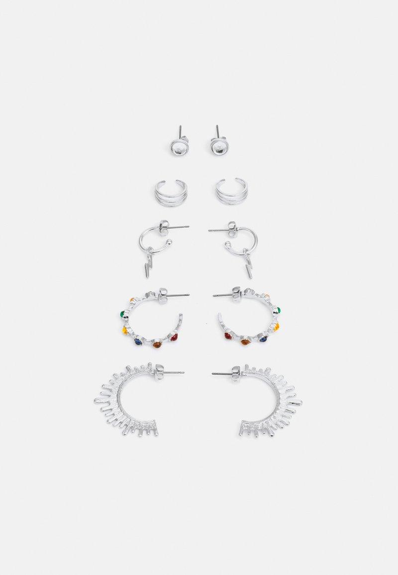 Fire & Glory - EARRINGS 5 PACK - Earrings - silver-coloured