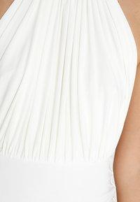Club L London - HALTER NECK RUCHED DETAIL FISHTAIL MAXI DRESS - Ballkjole - white - 5