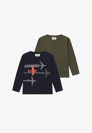 BOYS LONG SLEEVE 2 PACK - Camiseta de manga larga - dark blue/khaki