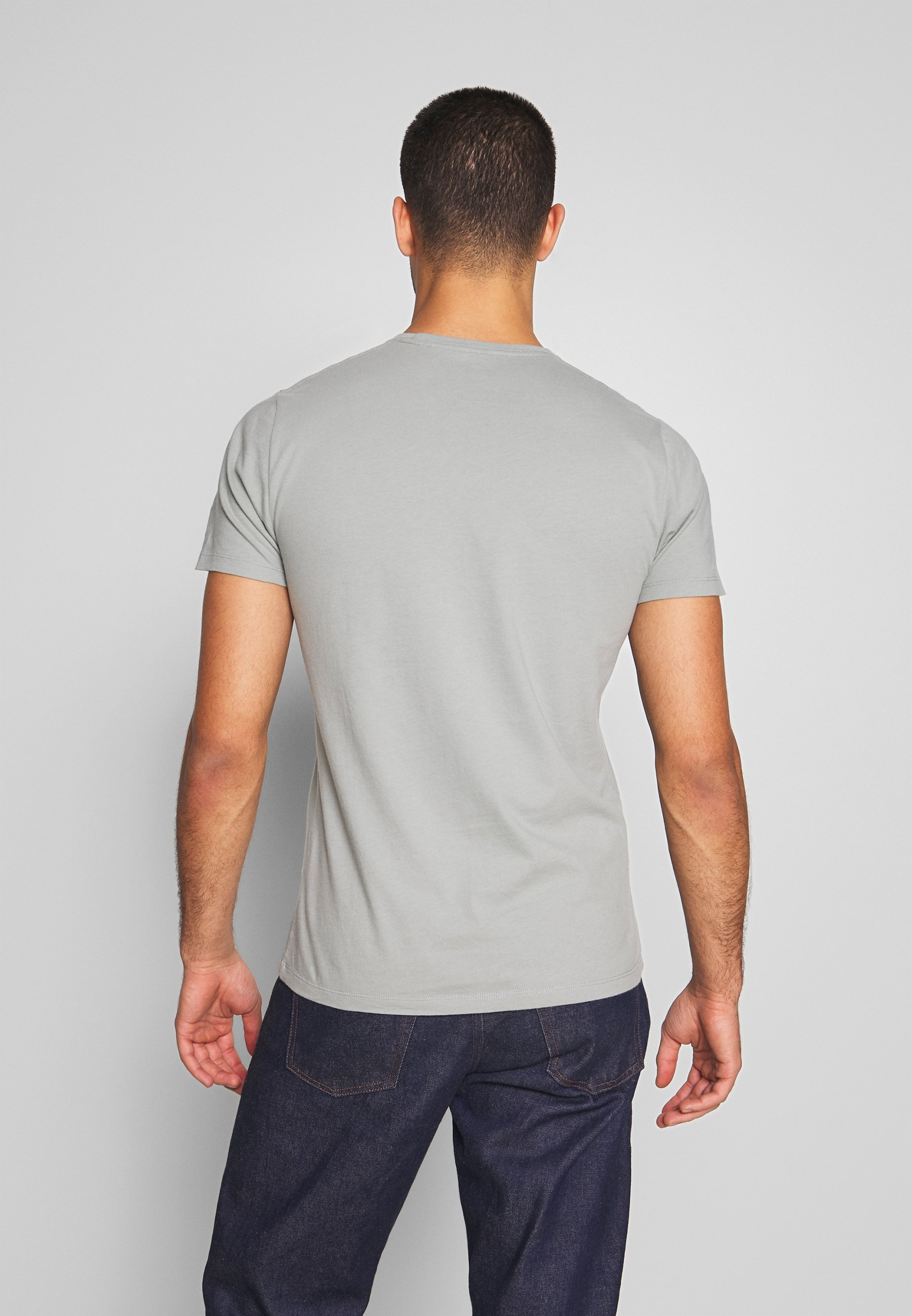 Abercrombie & Fitch NEUTRAL CREW MULTIPACK 5 PACK - T-shirt imprimé - black/grey/white/blue/green