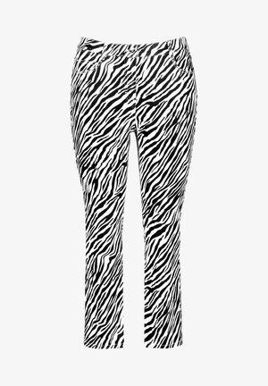 Pantalon classique - black gemustert