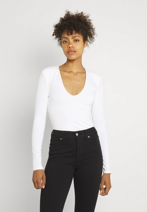 POWER SHOULDER BODY - Long sleeved top - ivory