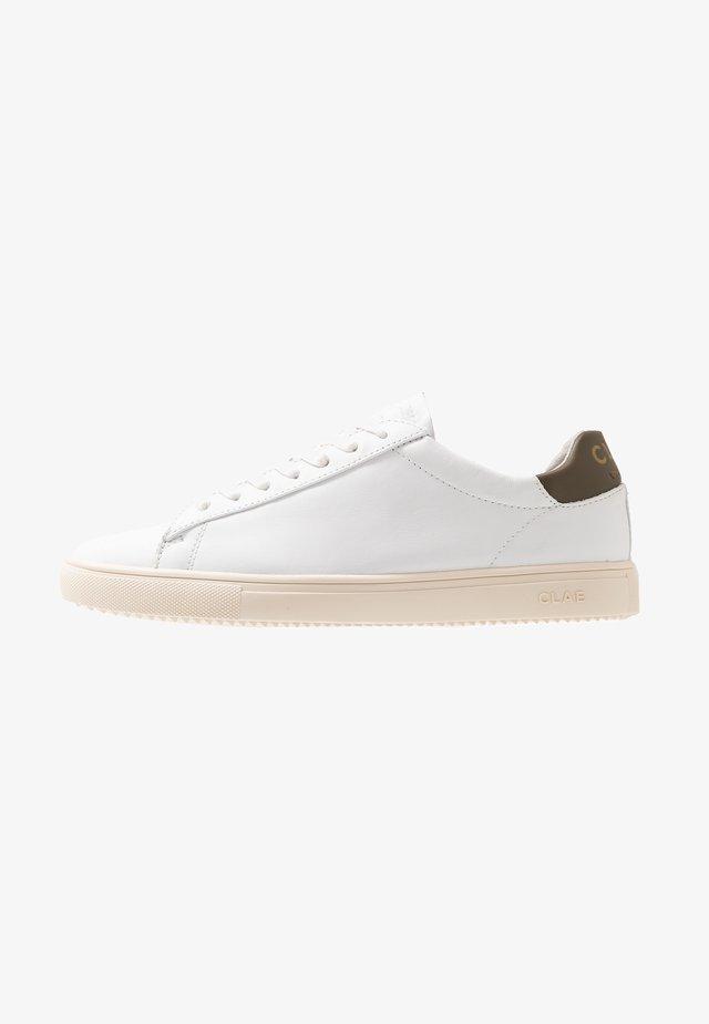 BRADLEY - Sneakers basse - smu/white/olive gold