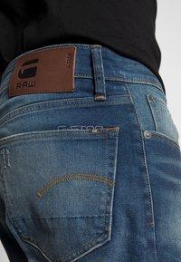 G-Star - 3301 STRAIGHT FIT - Straight leg jeans - joane stretch denim - worker blue faded - 4