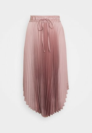 ELASTICATED PLEATED SKIRT - Falda acampanada - mauve