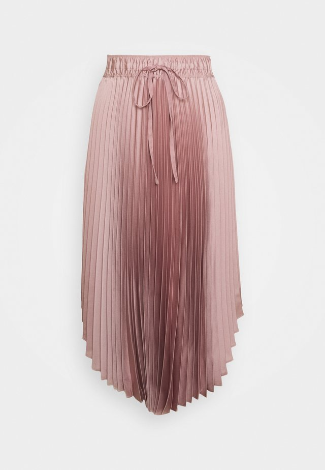 ELASTICATED PLEATED SKIRT - A-linjainen hame - mauve