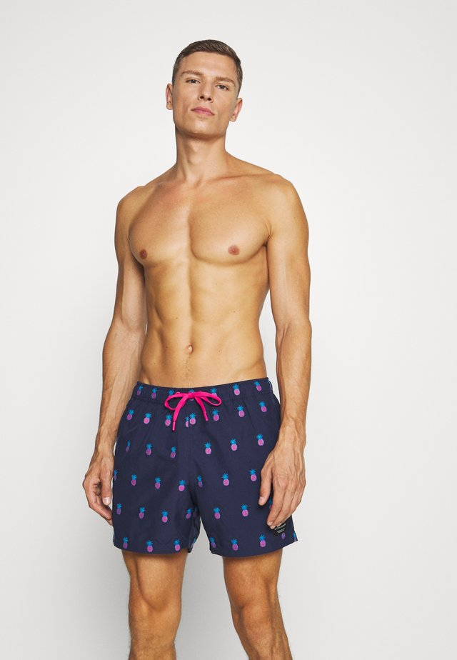 SANTIAGO - Swimming shorts - blue