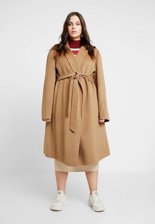 WRAP COAT - Classic coat - dark camel