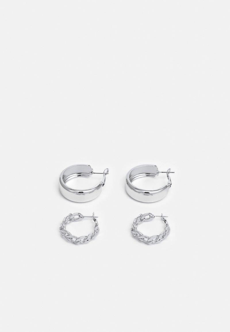 Vero Moda - VMMAZIAH CREOLS 2 PACK - Náušnice - silver-coloured