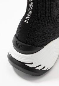 Emporio Armani - High-top trainers - black/silver - 2