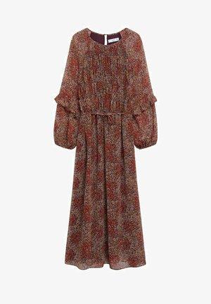 NURIA - Sukienka letnia - roodbruin