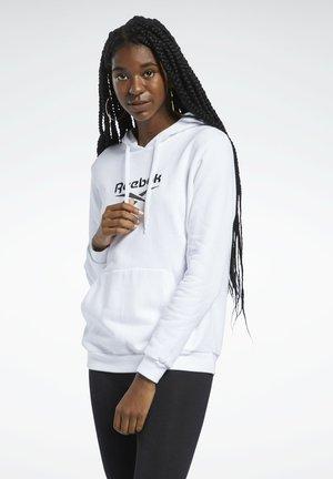 CLASSIC BIG LOGO FOUNDATION CASUAL HOODIE - Bluza z kapturem - white