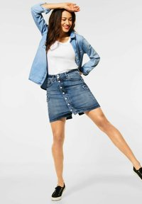 Street One - Pencil skirt - blau - 1