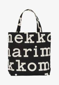 Shopping bag - black/off white