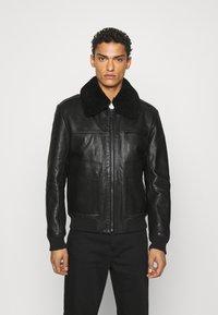HUGO - LYAN - Leather jacket - black - 0