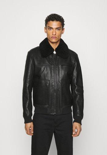 LYAN - Leather jacket - black