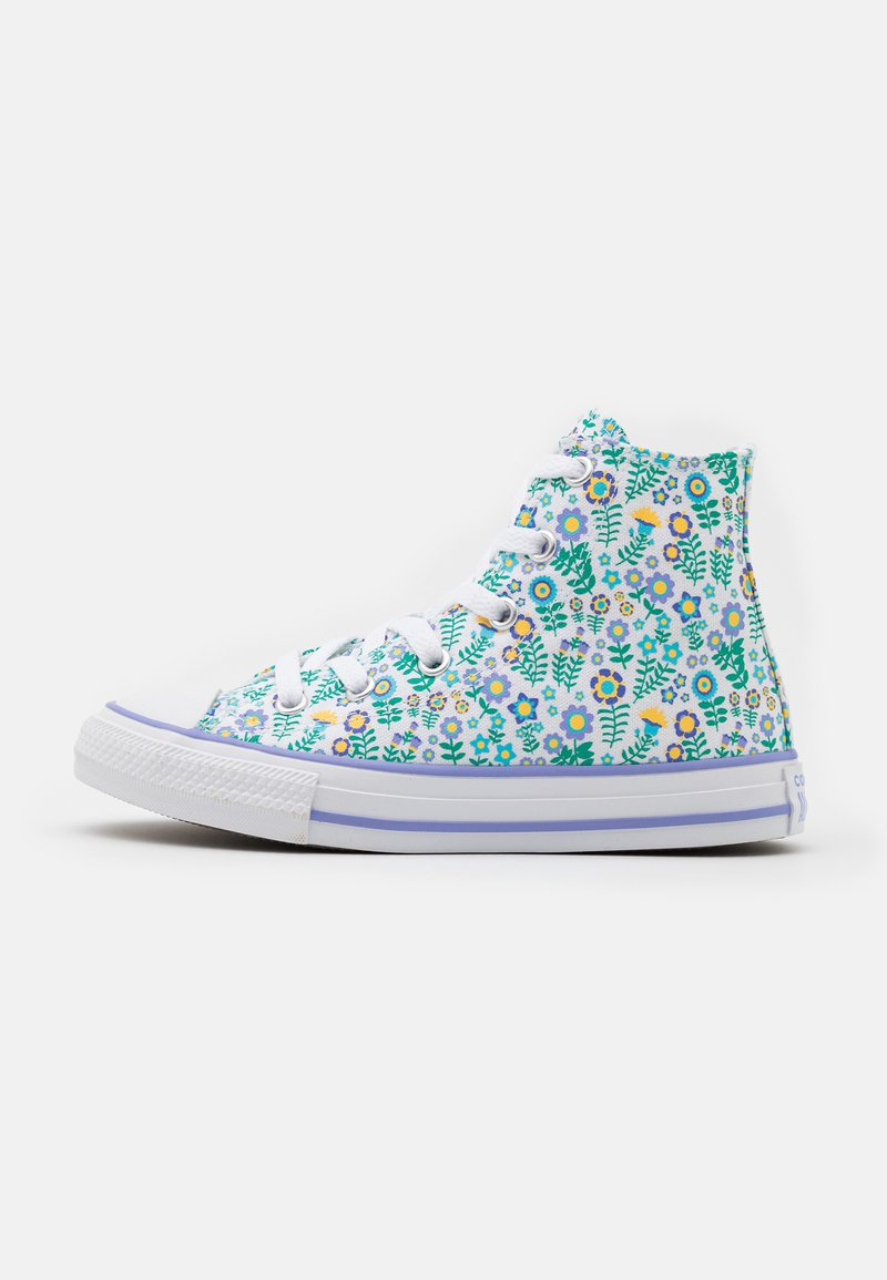 Converse - CHUCK TAYLOR ALL STAR FLORAL - High-top trainers - white/twilight pulse/citron pulse
