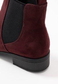 Dorothy Perkins - MORGAN CHELSEA  - Boots à talons - burgundy - 2