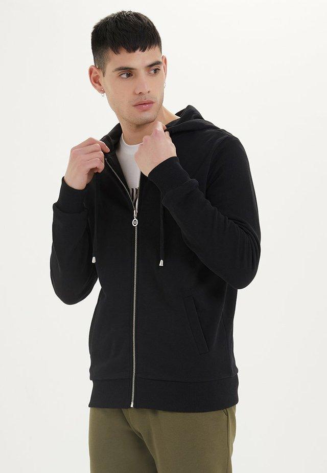ESSENTIALS  - veste en sweat zippée - black