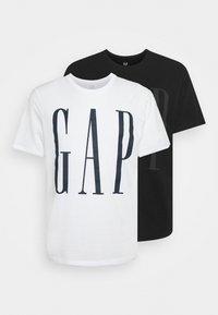 GAP - 2 PACK - Print T-shirt - black/white - 4