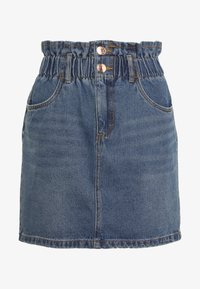 ONLY - ONLMILLIE MINI PAPER SKIRT - Denim skirt - medium blue denim - 3