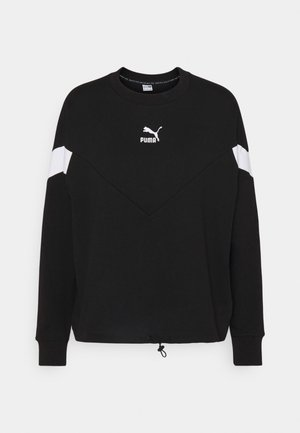 ICONIC CROPPED CREW - Sweatshirt - black