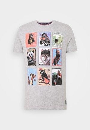 STAMPS - T-shirt z nadrukiem - light grey marl