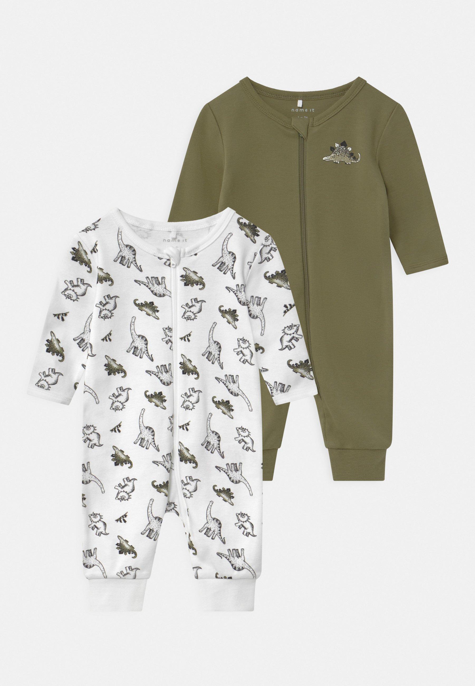 Kids NBMNIGHTSUIT ZIP LODEN DINO 2 PACK UNISEX - Pyjamas