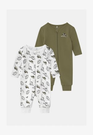 NBMNIGHTSUIT ZIP LODEN DINO 2 PACK UNISEX - Pijama - loden green