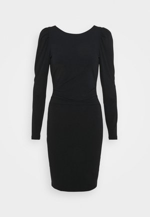 STRETCH SLEEVE DRESS - Jersey dress - black