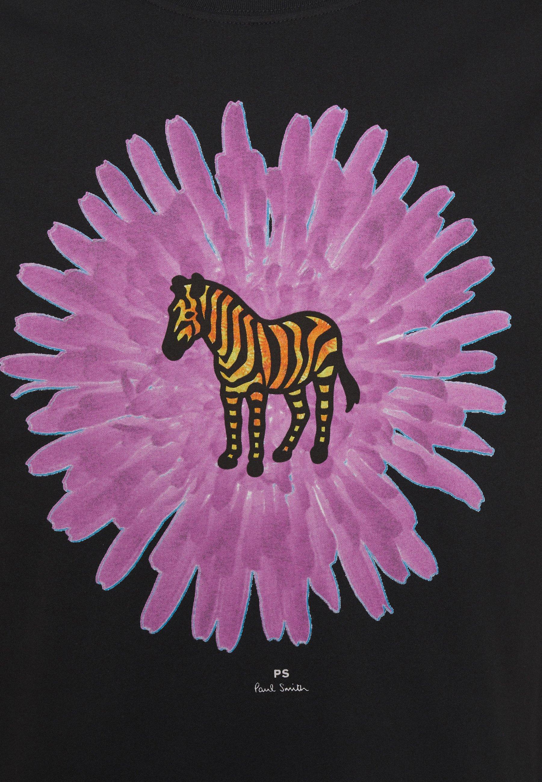 Women MENS REG FIT FLOWER ZEBRA UNISEX - Print T-shirt