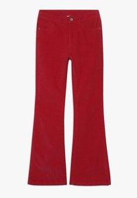 Grunt - FLARE - Spodnie materiałowe - neon pink - 0