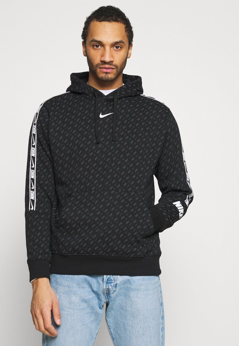 Nike Sportswear - REPEAT HOOD - Sweatshirt - black/white